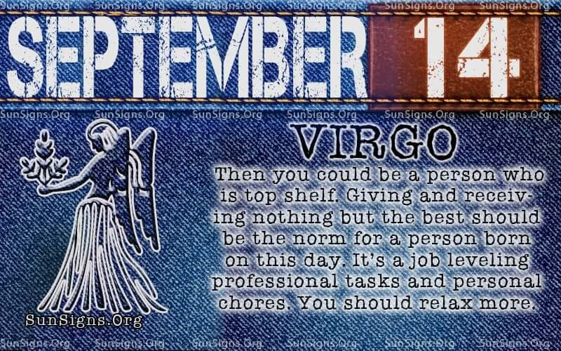 september 14 virgo birthday calendar