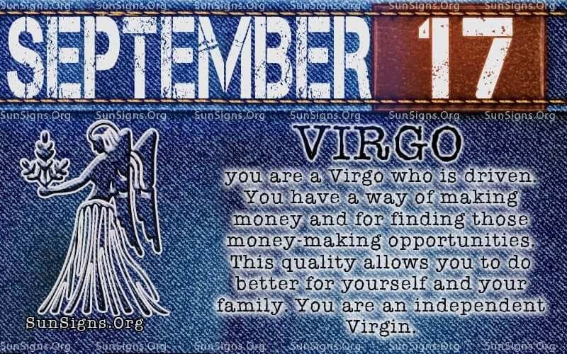 september 17 virgo birthday calendar
