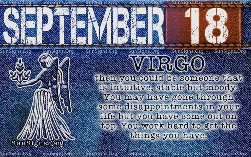 september 18 virgo birthday calendar