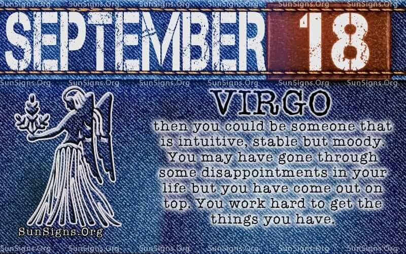 september 18 virgo birthday calendar