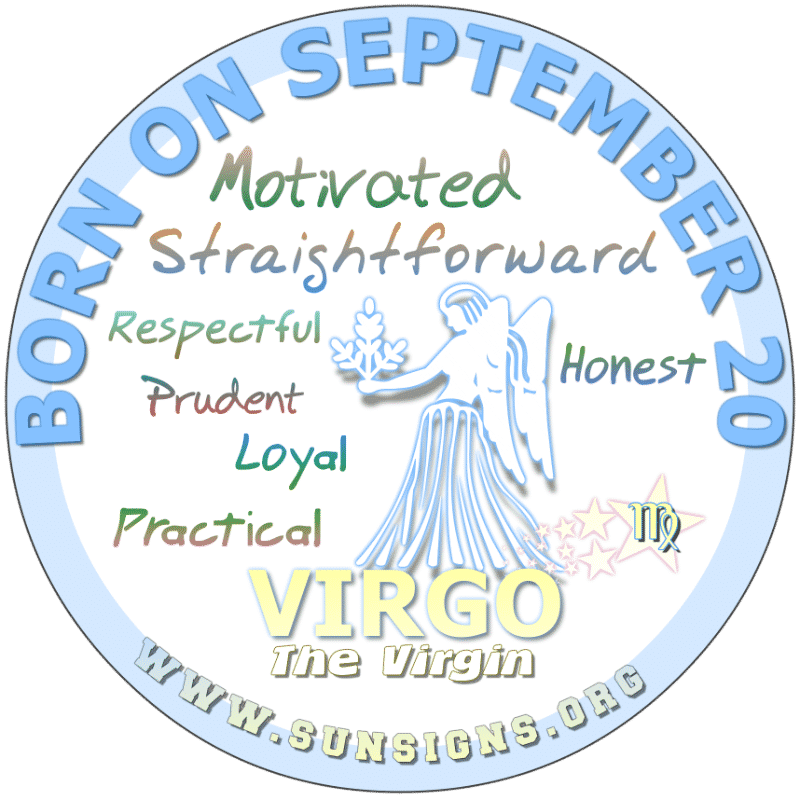IF YOU ARE BORN ON September 20th, your lifestyle reflects one who practices holistic health care. You love looking your best and staying fit. Virgos born today are subject to having trust issues. In addition, you as a parent will be a strict one.