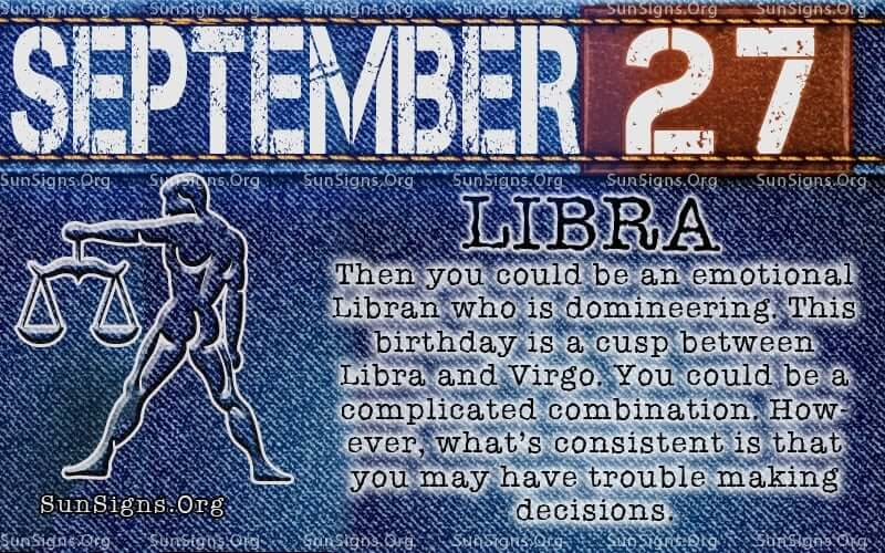 september 27 libra birthday calendar