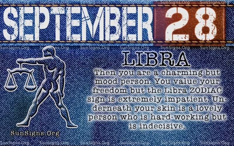 September 28 Zodiac Horoscope Birthday Personality