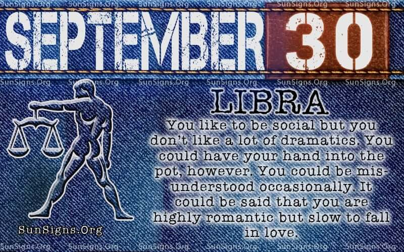 september 30 libra birthday calendar