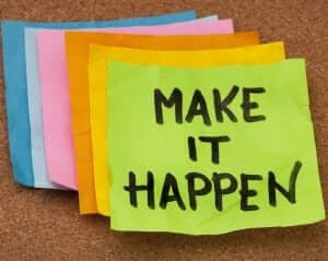 Set yourself objectives, tasks you want to complete each day.