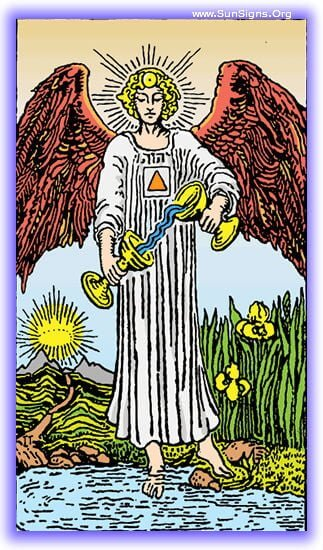 This tarot meditation on the Temperance card upright focuses on the need for balance in your life.