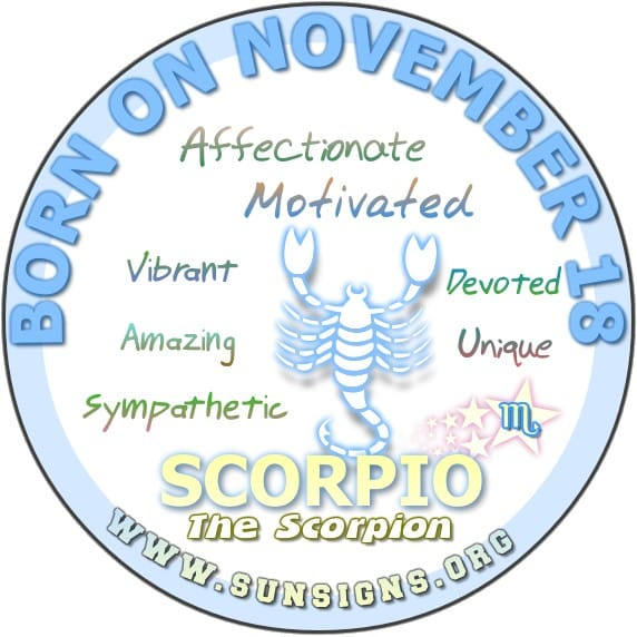 November 18 Birthday Horoscope Personality