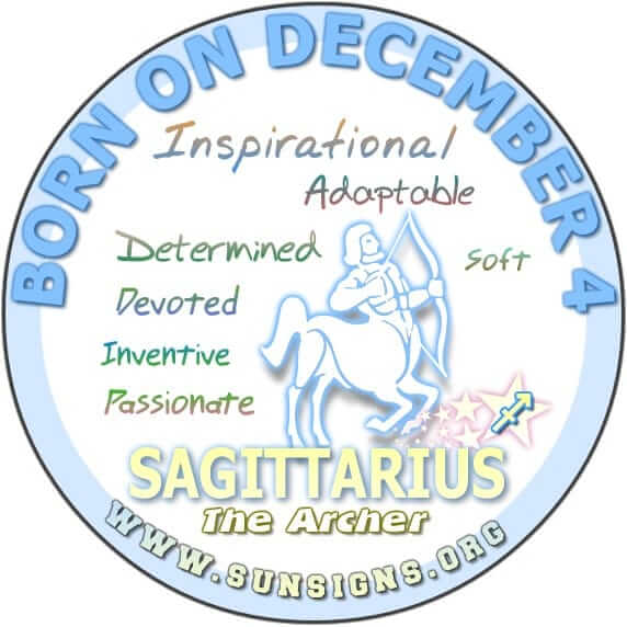 IF YOU ARE BORN ON DECEMBER 4, you are likely to be adaptable.