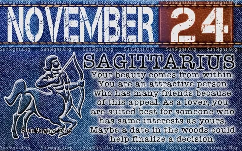 november 24 sagittarius birthday calendar
