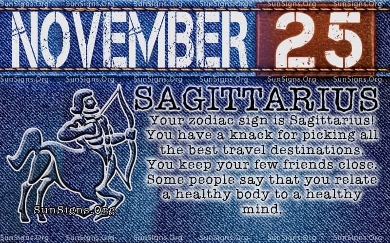 november 25 sagittarius birthday calendar