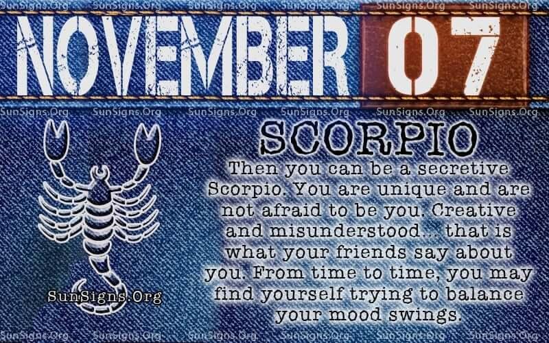 november 7 scorpio birthday calendar