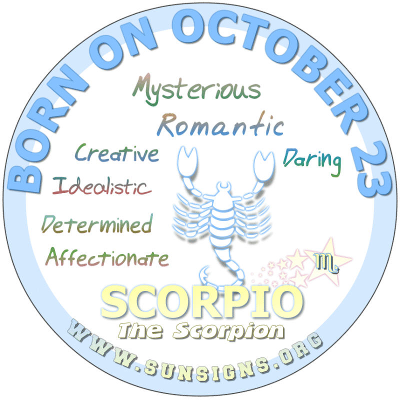 October 23 Birthday Horoscope Personality