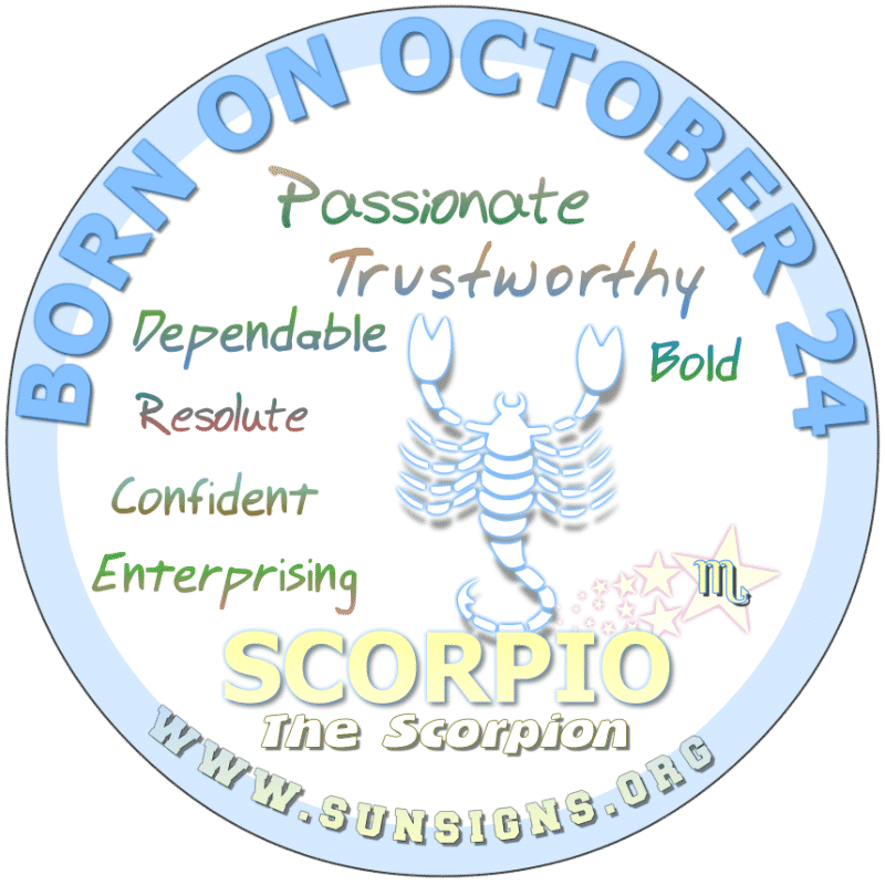October 24 Birthday Horoscope Personality