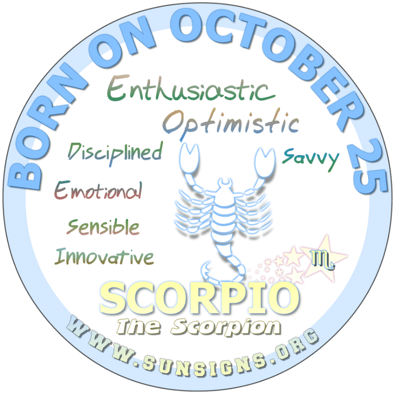 October 25 Birthday Horoscope Personality