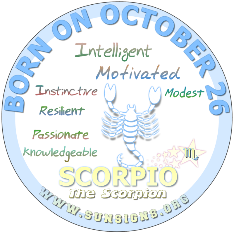 October 26 Birthday Horoscope Personality