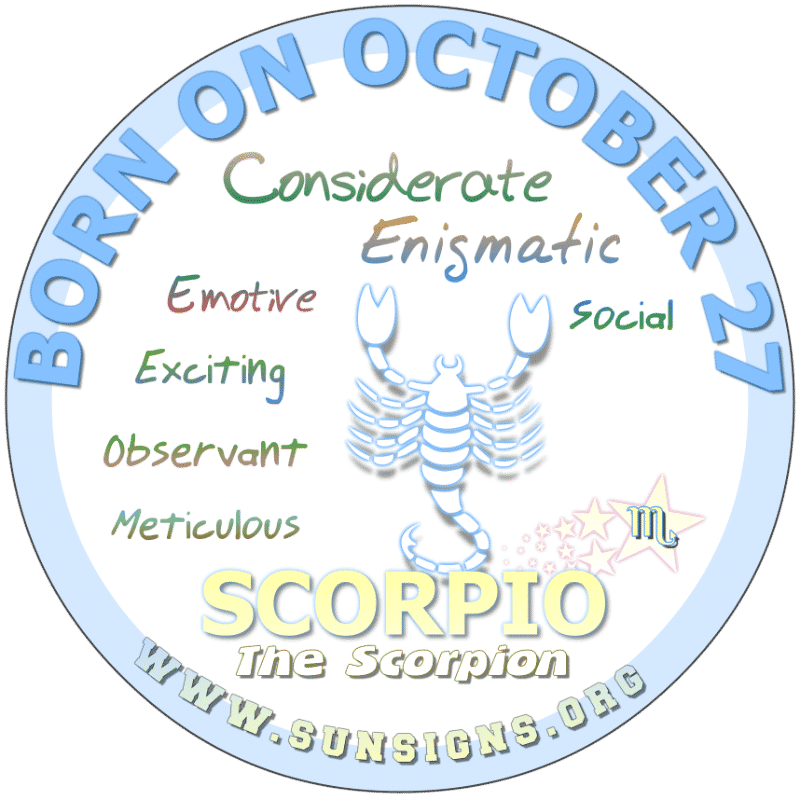 October 27 Birthday Horoscope Personality