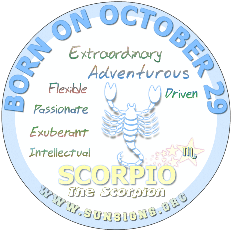 October 29 Birthday Horoscope Personality