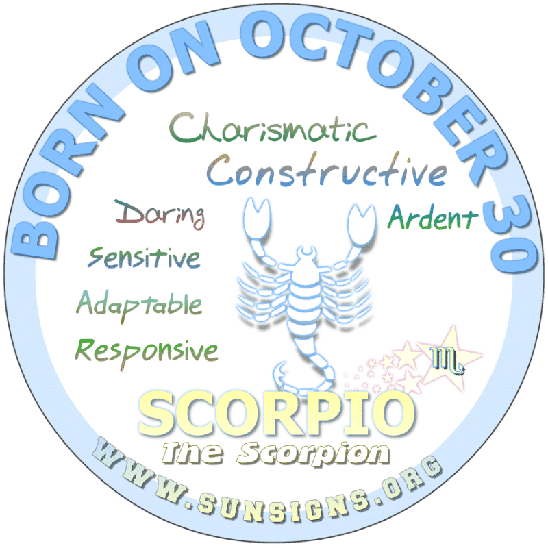 October 30 Birthday Horoscope Personality