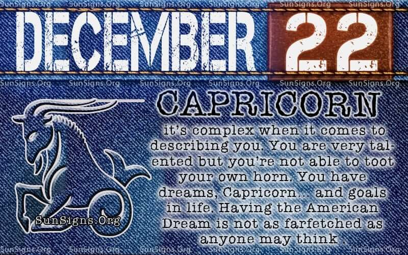 December 22 Zodiac Horoscope Birthday Personality | SunSigns Org