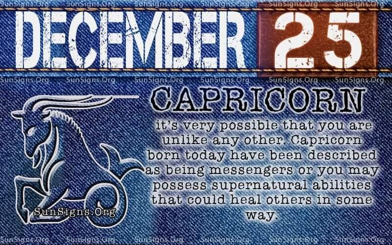 december 25 birthday
