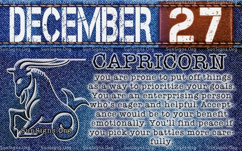 27 december what horoscope