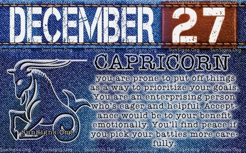 december 27 birthday