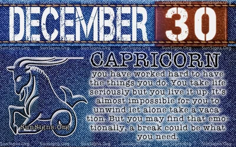 december 30 birthday