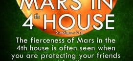 The fierceness of Mars in the 4th house is often seen when you are protecting your friends and family.