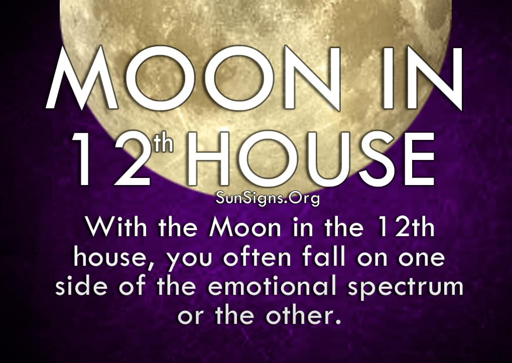 The Moon In 12th House
