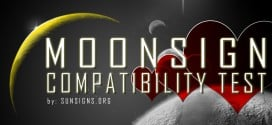 Taking this moon sign compatibility test will help you know how you react in love relationships.