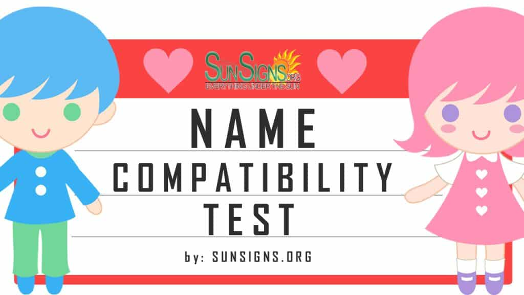 name compatibility test. What does name compatibility have to do with matters of the heart?