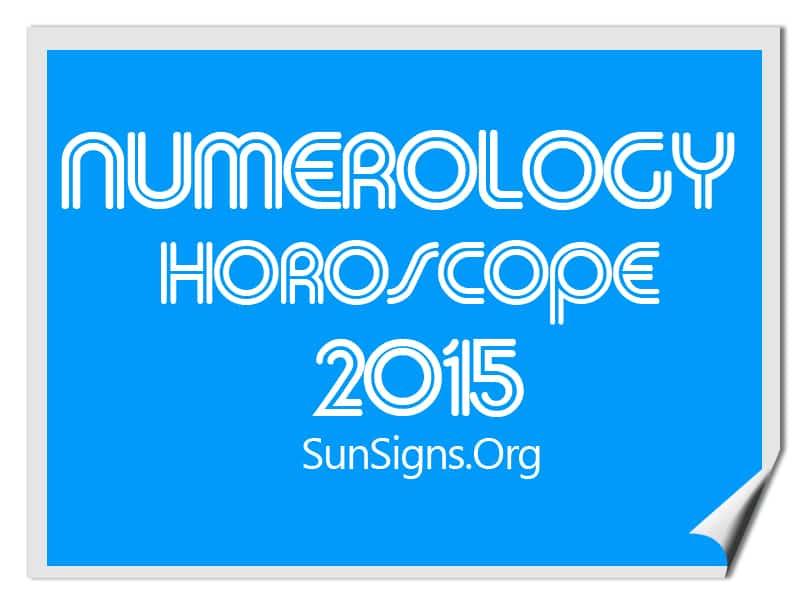 numerology horoscope 2015