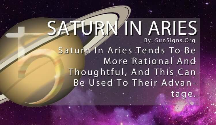 The Saturn In Aries