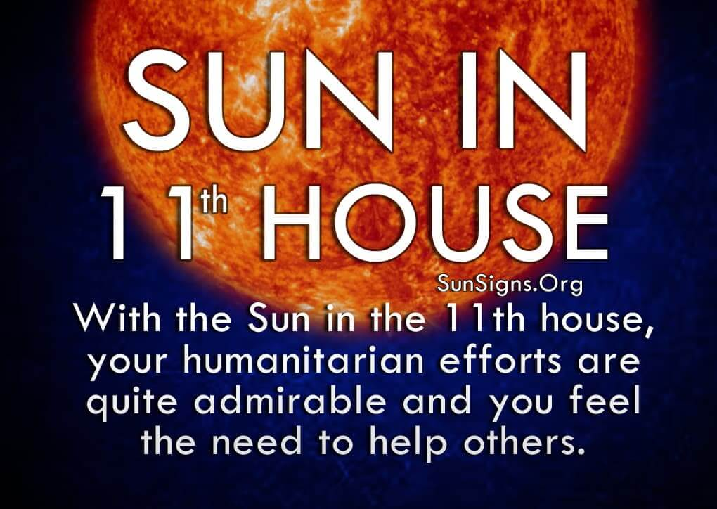 The Sun In 11th House