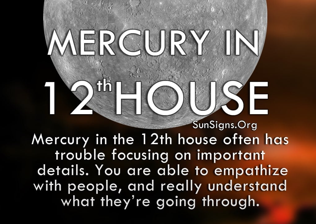 Mercury In 12th House Meaning And Significance | SunSigns Org