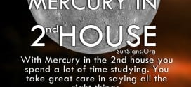 Mercury In 2nd House. With Mercury in the 2nd house you spend a lot of time studying. You take great care in saying all the right things.