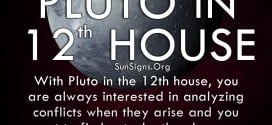 The pluto in twelfth house