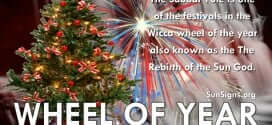 The Sabbat Yule is one of the festivals in the Wicca wheel of the year.