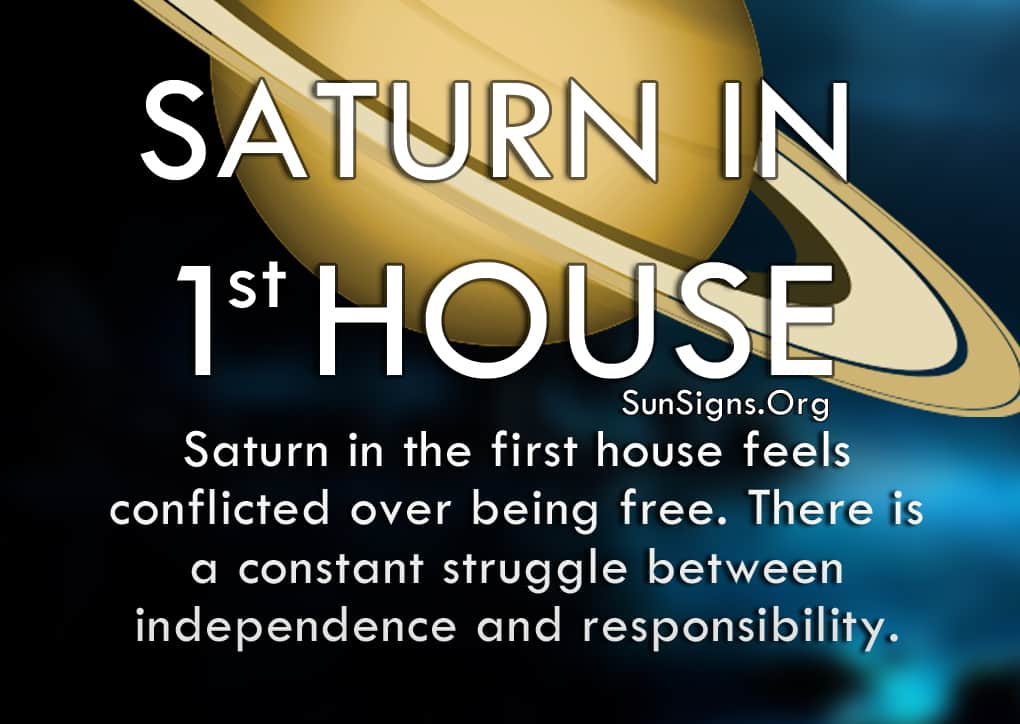 Saturn In 1st House. Saturn in the first house feels conflicted over being free.