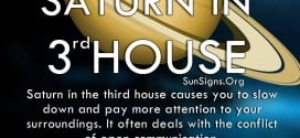 Saturn In 3rd House. Saturn in the third house causes you to slow down and pay more attention to your surroundings. It often deals with the conflict of open communication.