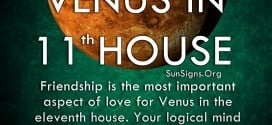 Venus In 11th House. Friendship is the most important aspect of love for Venus in the eleventh house. Your logical mind supersedes your emotional state.