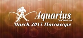 March 2015 Aquarius Horoscope predicts that domestic and spiritual issues will be in focus over career