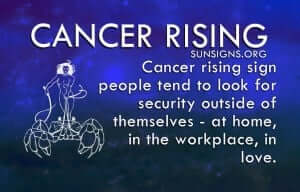Cancer Rising people are introverts