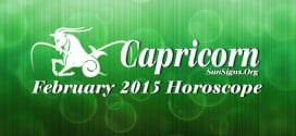 February 2015 Capricorn Horoscope predicts that your independent efforts and happiness will be the dominant aspect of this month