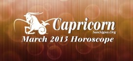 Capricorn March 2015 Horoscope foretells that domestic and spiritual issues dominate over career and personal goals