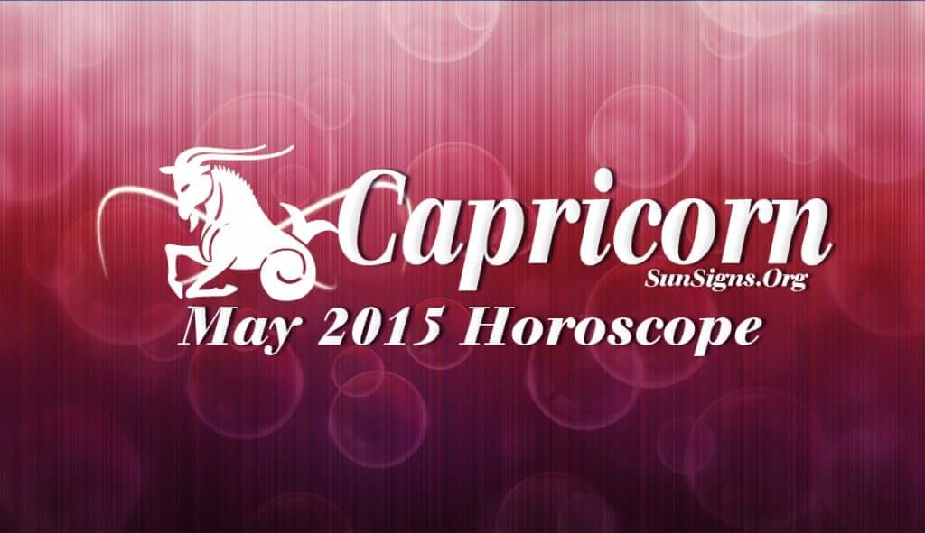 Capricorn May 2015 Horoscope foretells that May 2015 will be a month for enjoying the fruits of your success in life
