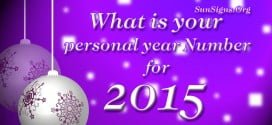 What Is Your Personal Year Number For 2015