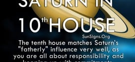 """Saturn In 10th House. The tenth house matches Saturn's """"fatherly"""" influence very well, as you are all about responsibility and keeping up with commitments."""