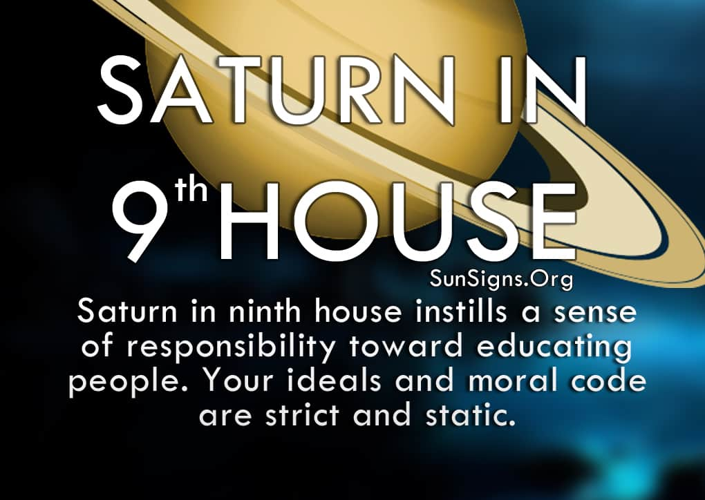 The Saturn In 9th House