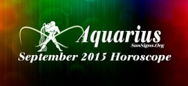 September 2015 Aquarius Monthly Horoscope
